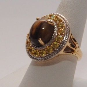 Ring Ladies Size 8 South African Tigers Eye